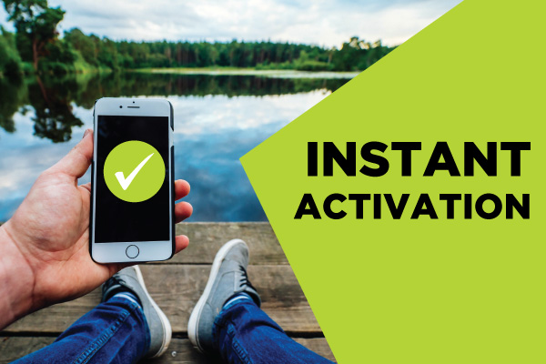 Instant Activation with Mobile Payments
