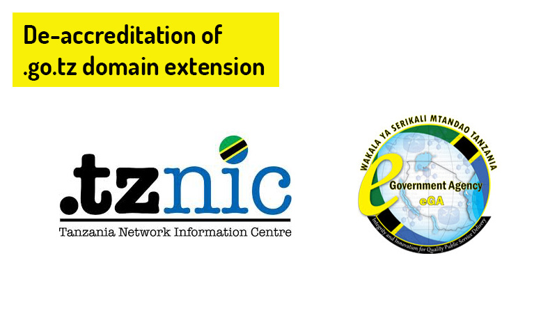 De-accreditation of .go.tz domains to eGA